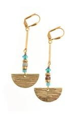 KKajoux Jewels Seagreen Fan Earrings