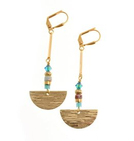 KKajoux Jewels Seagreen Fan Earrings