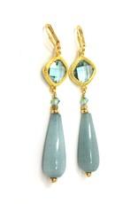 KKajoux Jewels Blue Marine Link Earrings