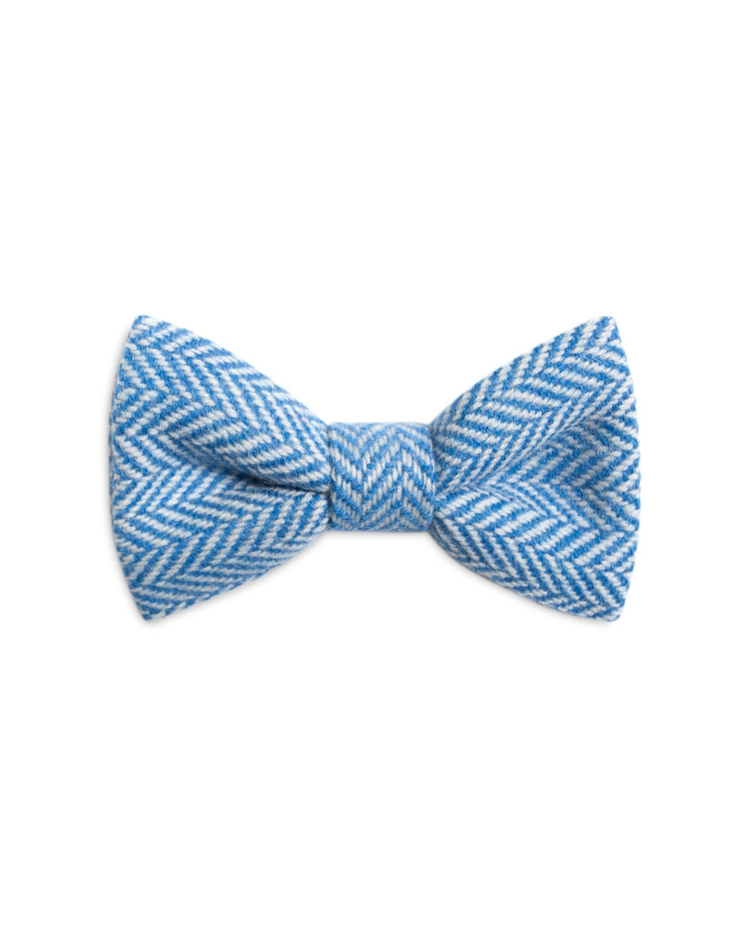 Orwell and Browne Donegal Tweed Bow Tie - Stippled Cornflower