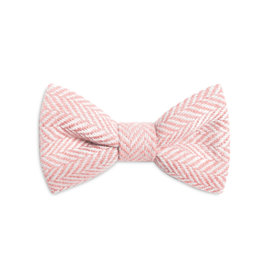 Orwell and Browne Donegal Tweed Bow Tie - Blush