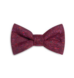 Orwell and Browne Donegal Tweed Bow Tie - Speckled Burgundy
