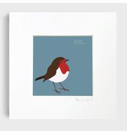 Bex Shelford Framed Robin Print