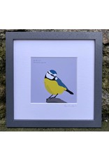 Bex Shelford Framed Blue Tit Print