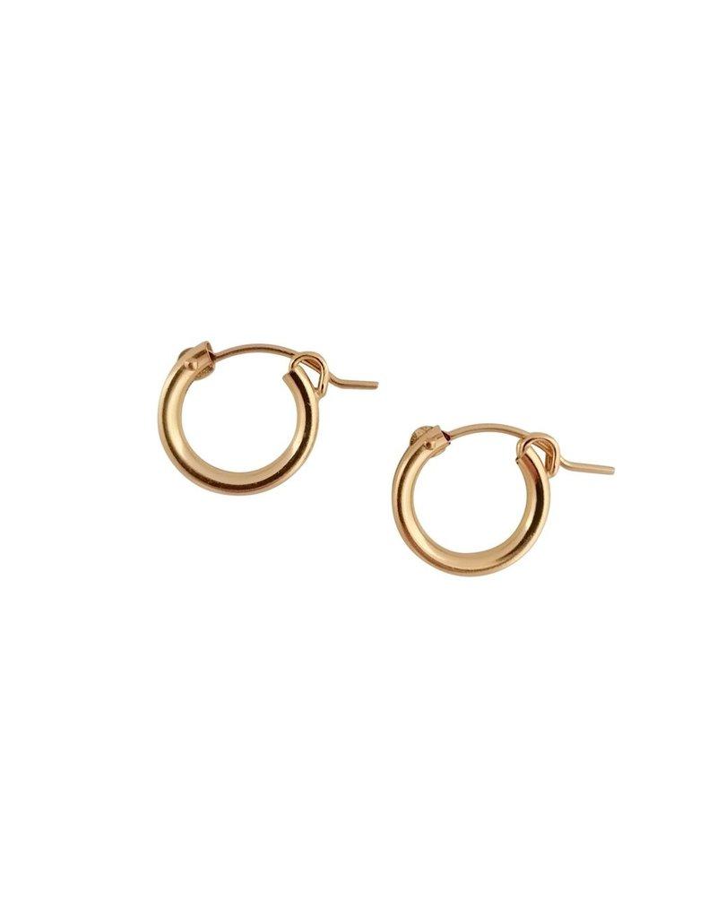 A Box for My Treasure Gold Hinged Hoop Earrings