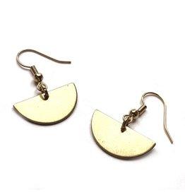 Kaiko Studio Half Moon Brass Earrings