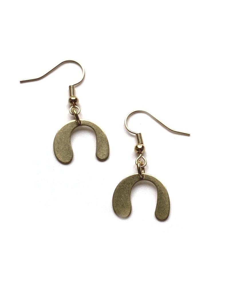 Kaiko Studio Geometric Seed Brass Earrings