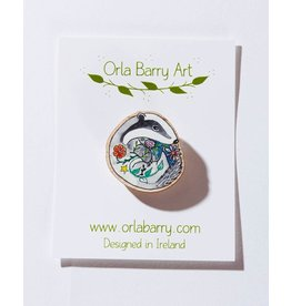 Orla Barry Badger Brooch