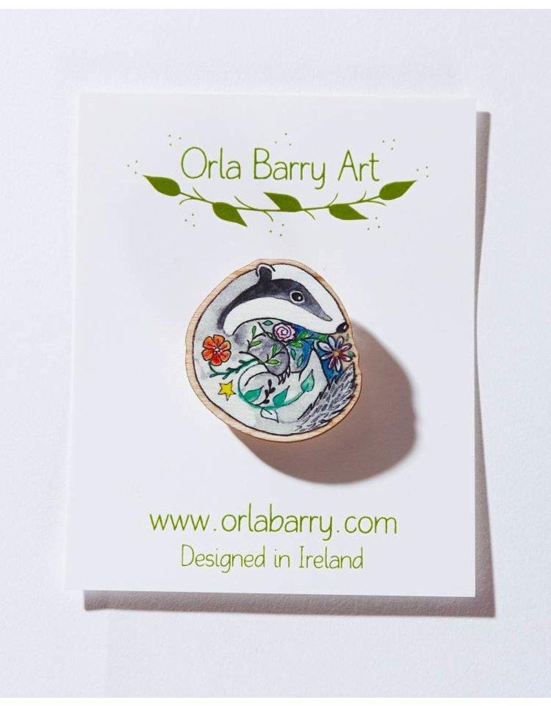 Orla Barry Badger Brooch