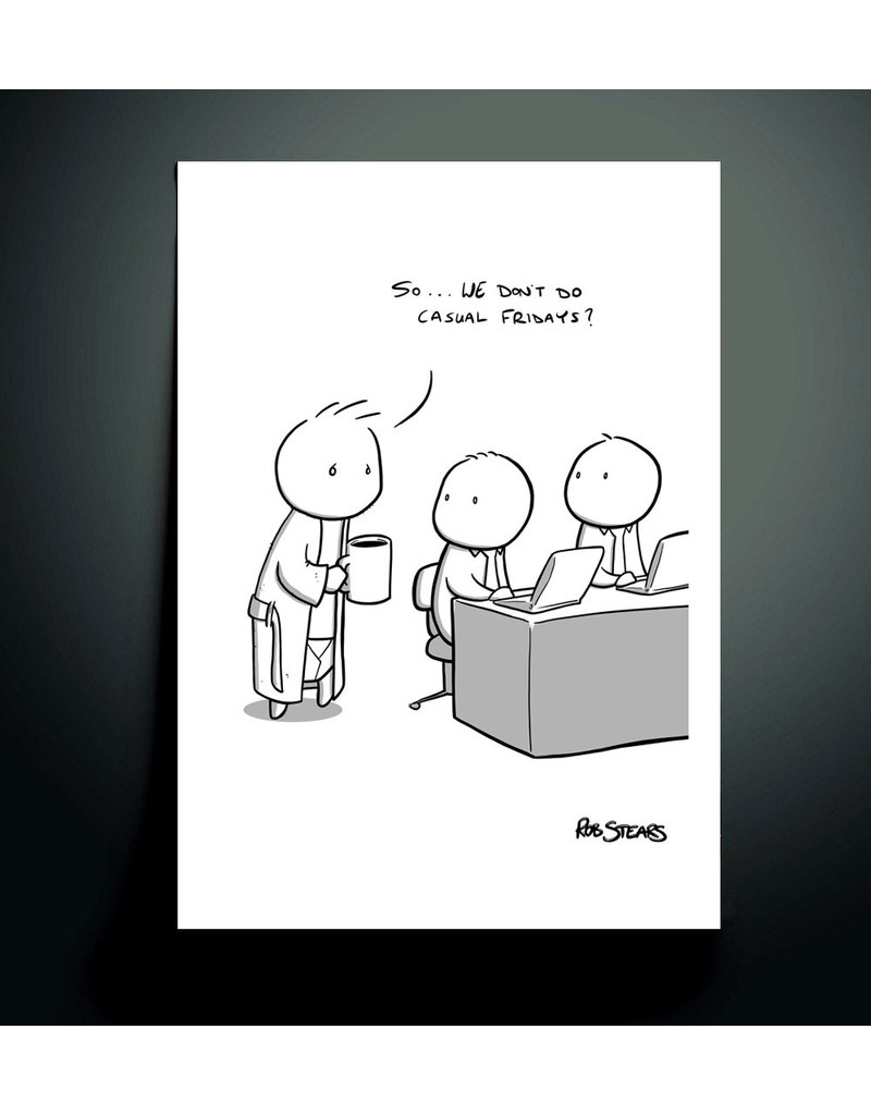 Rob Stears Casual Friday A4 Print