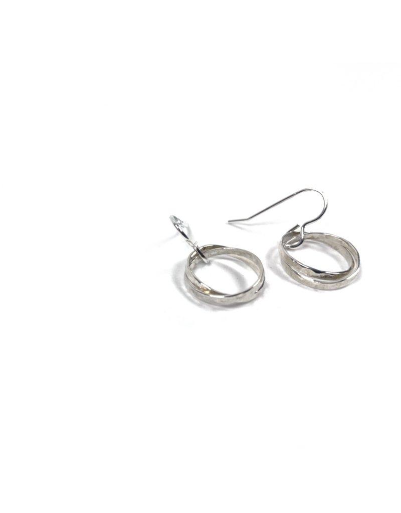 Lynsey De Burca Silver Tarrea Double Link Earrings
