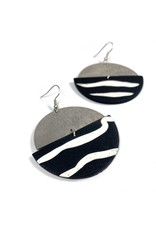 Daki Daki Design Silver Zebra Earrings