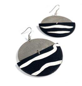 Daki Daki Design Silver Zebra Earrings