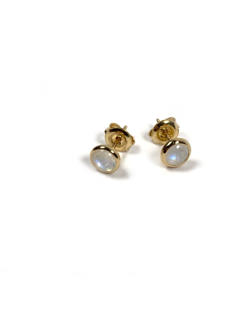 Mary k Jewellery Gold Moonstone Stud Earrings