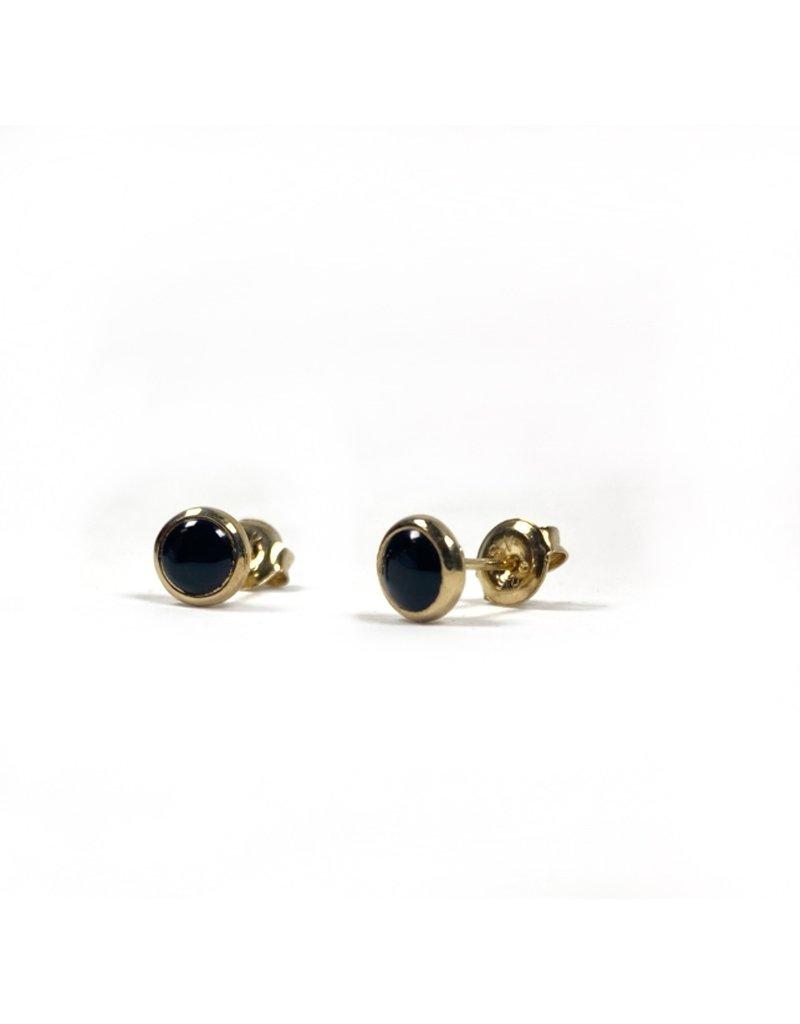 Mary k Jewellery Gold Onyx Stud Earrings