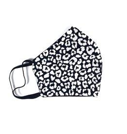 MOG Face Mask - Black and White Leopard Print
