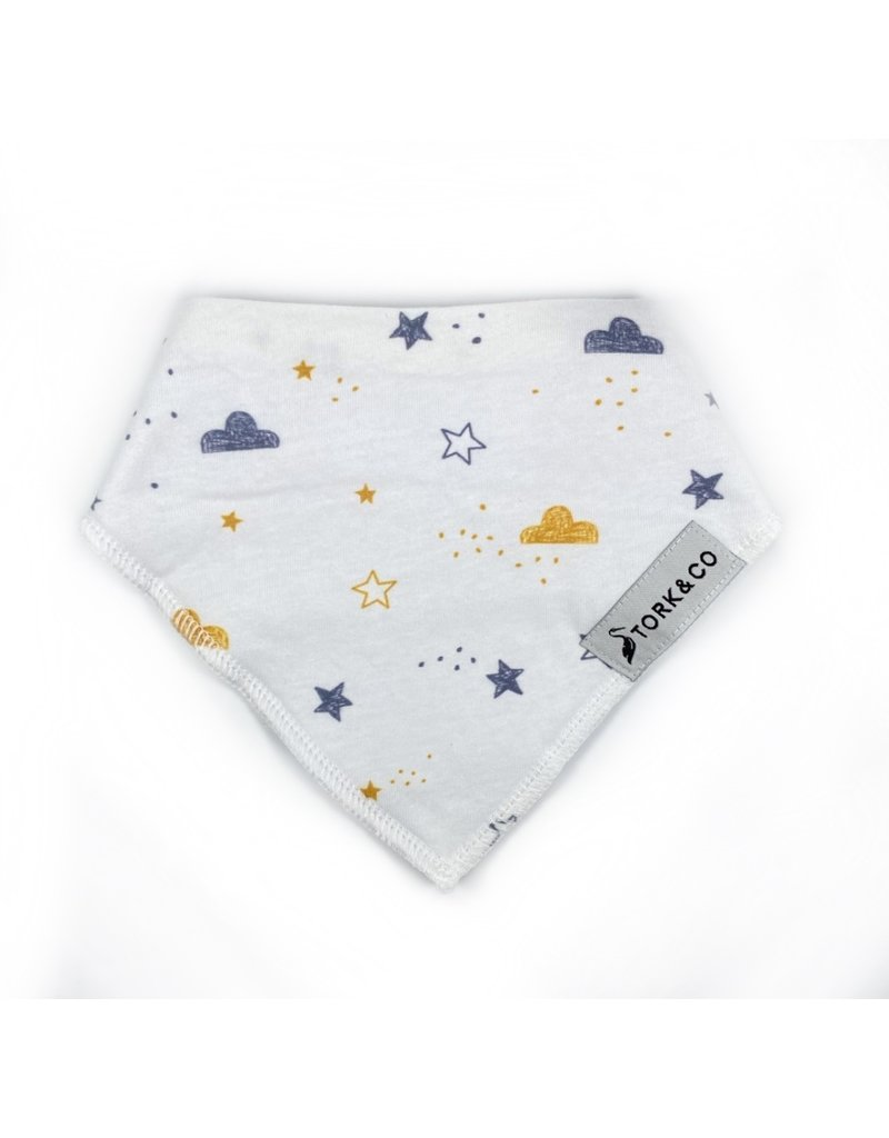 The Stork Box Clouds and Stars Dribble Bib