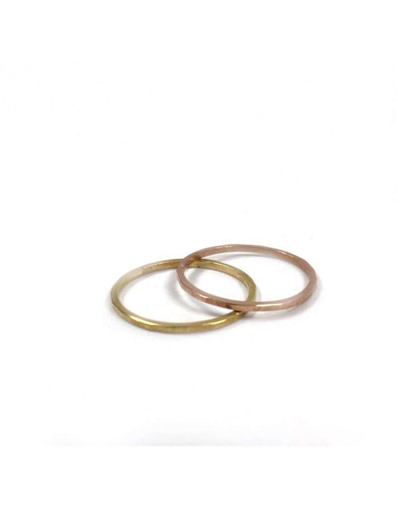 Lynsey De Burca Rose Gold Doon Band Ring