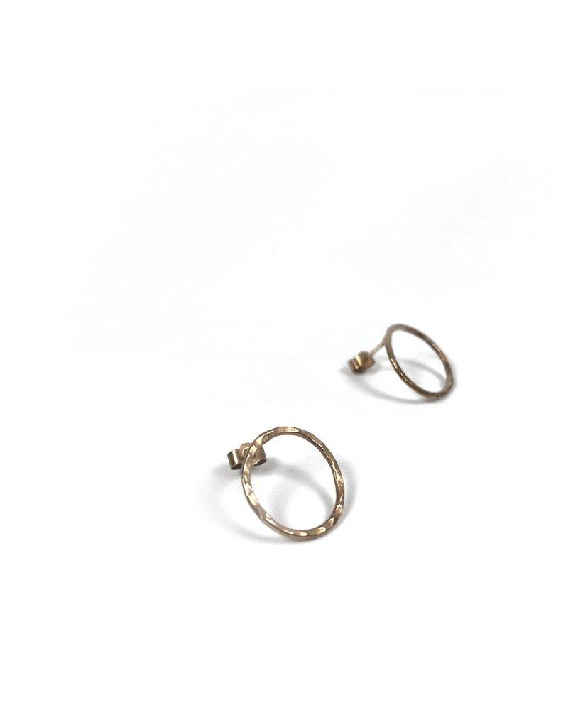 Ghost and Bonesetter Gold Circle Earrings