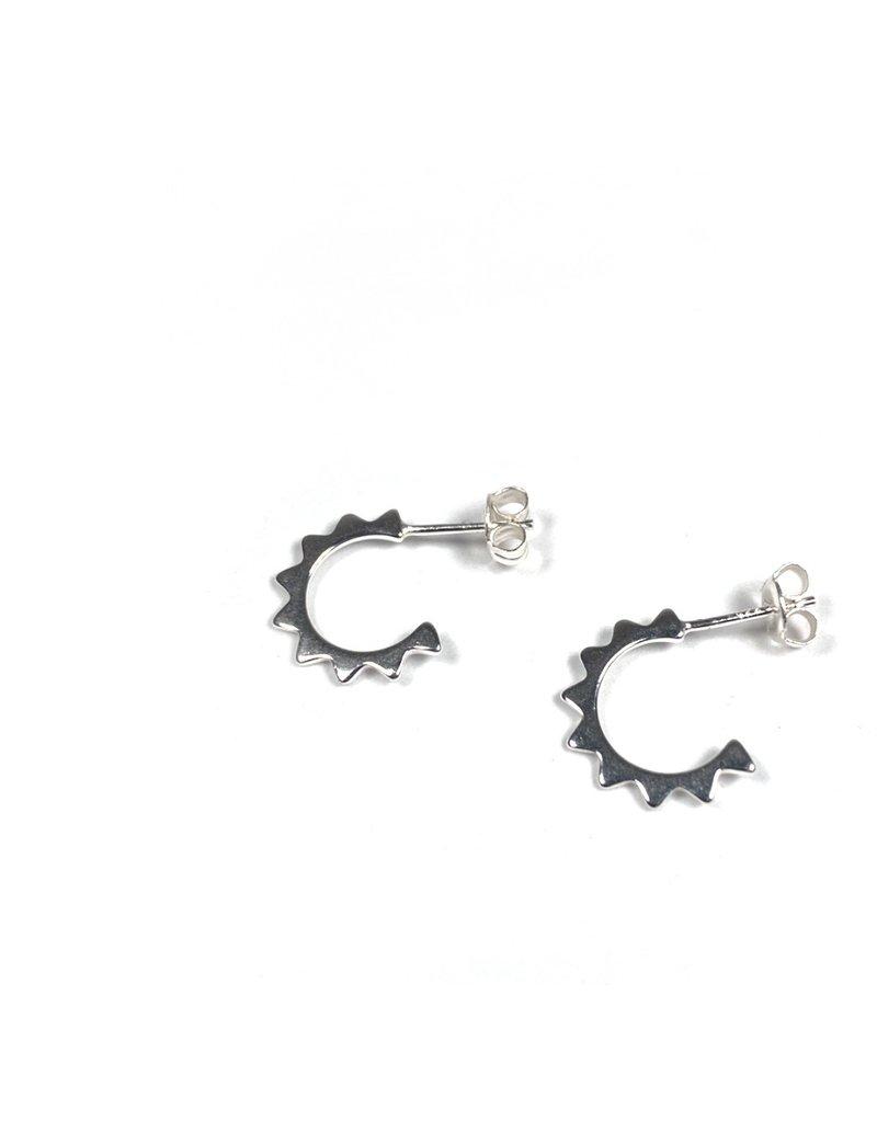 Mary k Jewellery Silver Mini Sun Hoop Earrings