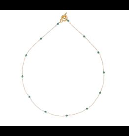 Vivien Walsh Gold Mini Dot Necklace - Jade