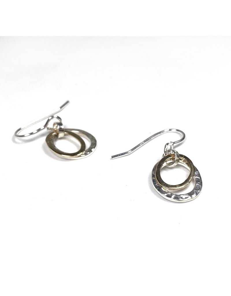 Lynsey De Burca Silver and Gold Carran Earrings