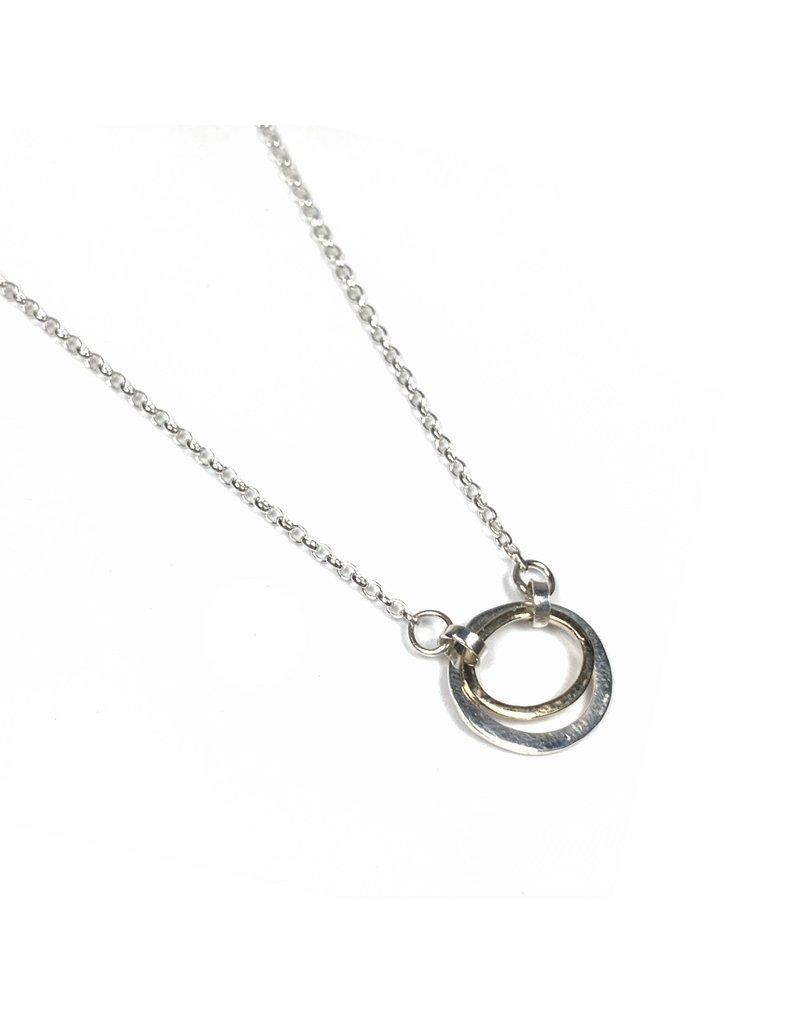 Lynsey De Burca Silver and Gold Carran Necklace