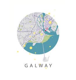 Marta Barcikowska Galway City Map A3 Print