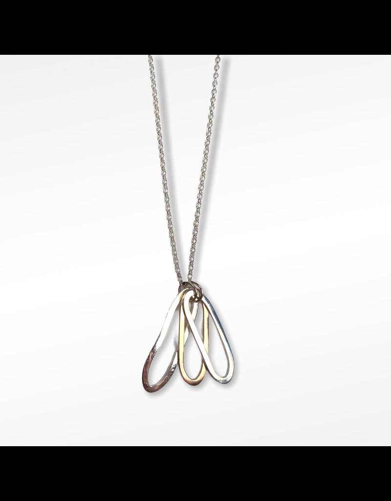 Lynsey De Burca Silver  and Gold Tooreen Necklace