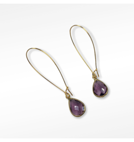 KKajoux Jewels Plum Deco Teardrop Long Earrings
