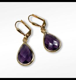 KKajoux Jewels Plum Deco Teardrop Short Earrings