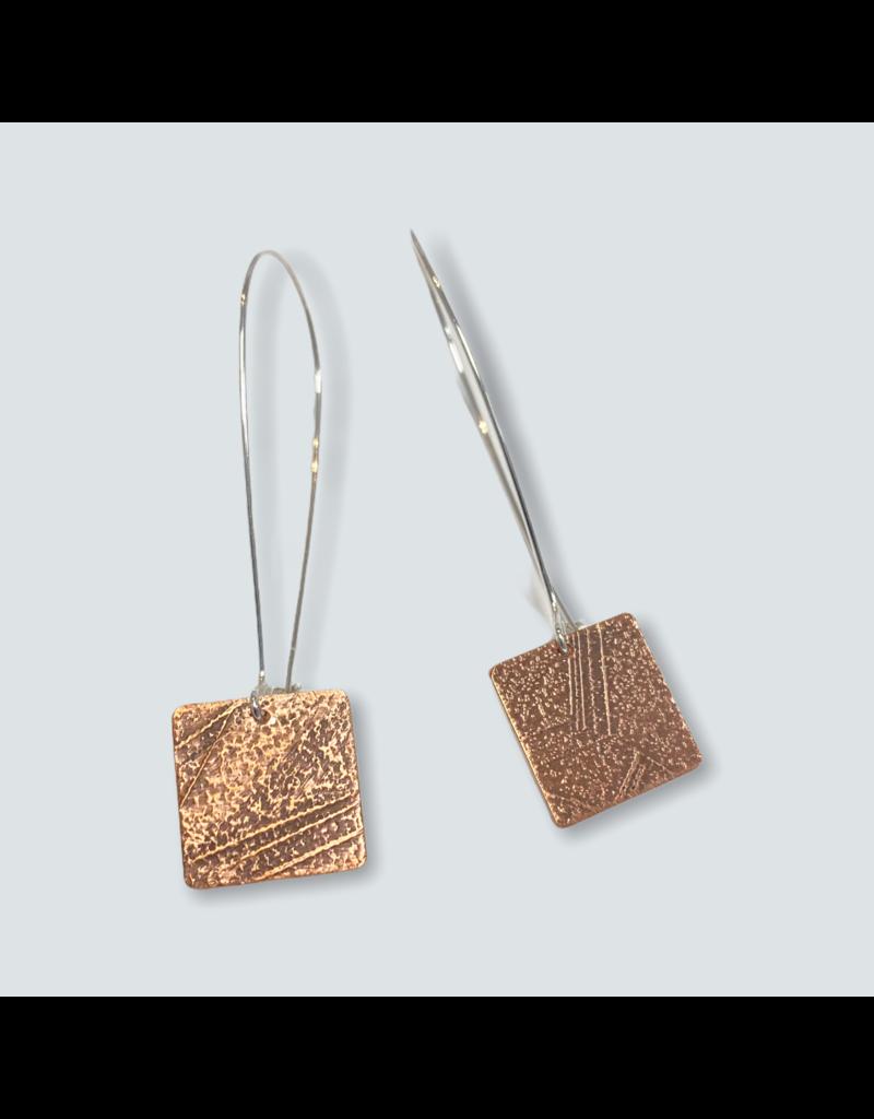 Ghost and Bonesetter Copper Drop Earrings