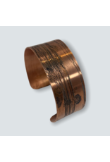 Ghost and Bonesetter Etched Copper Cuff