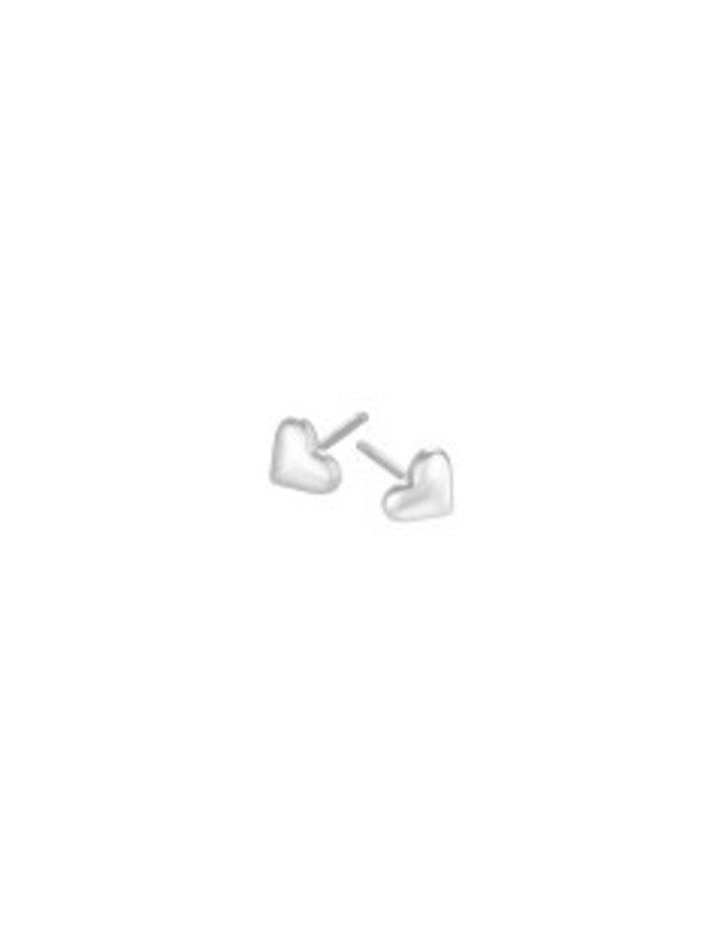 Mary k Jewellery Silver Heart Stud Earrings