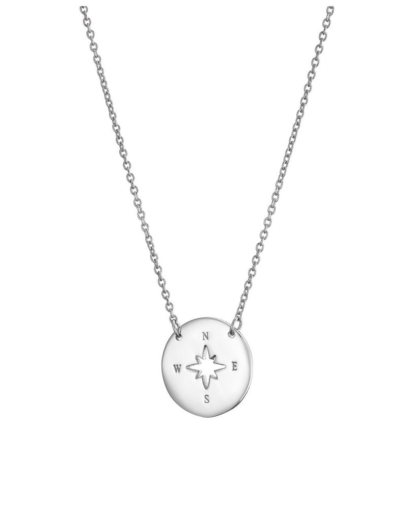 Mary k Jewellery Silver Cutout Compass Necklace