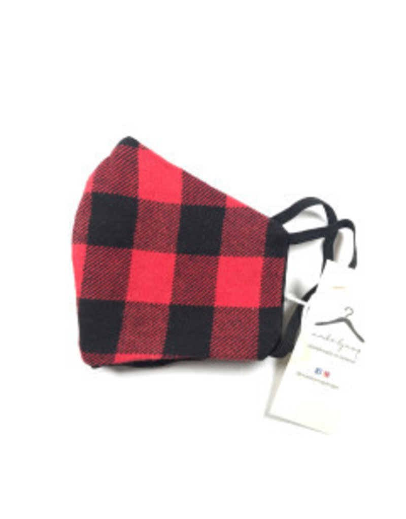 MOG Face Mask - Red and Black Check