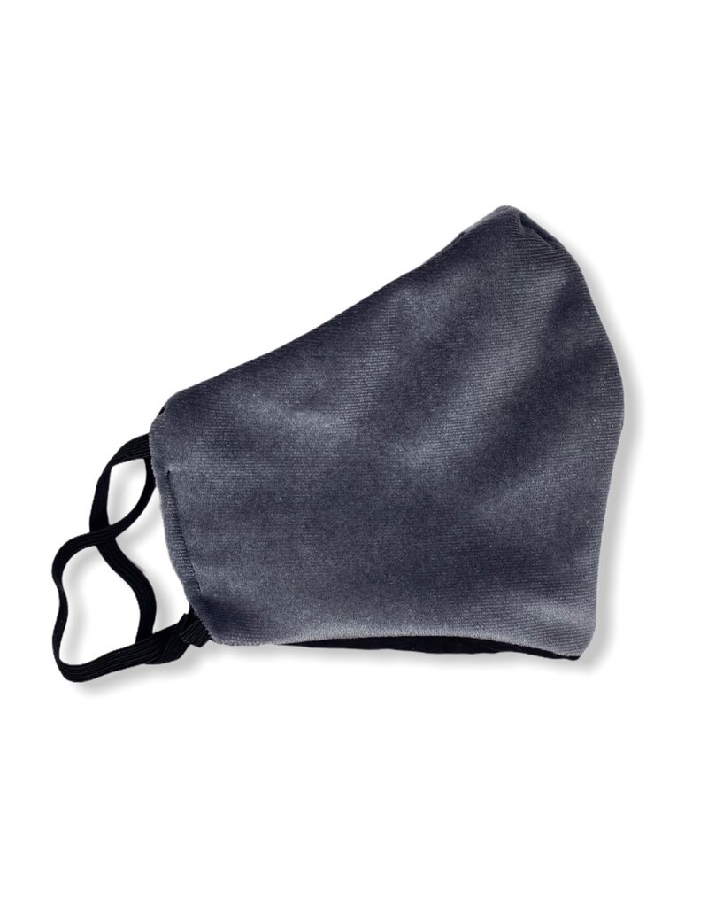 MOG Face Mask - Dark Grey Velvet