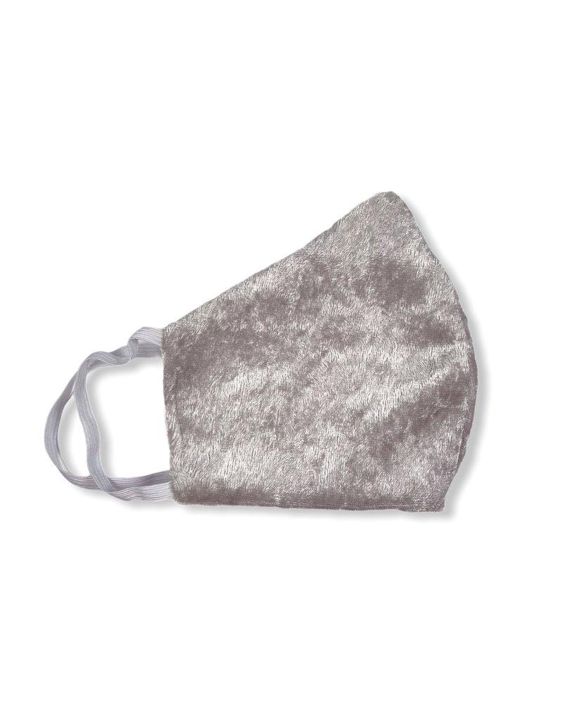 MOG Face Mask - Light Grey Velvet
