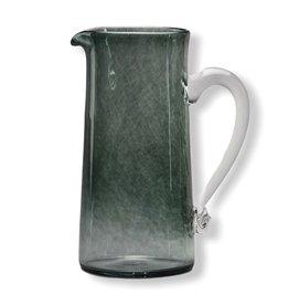 Jerpoint Glass Large Monochrome Jug - Smoke