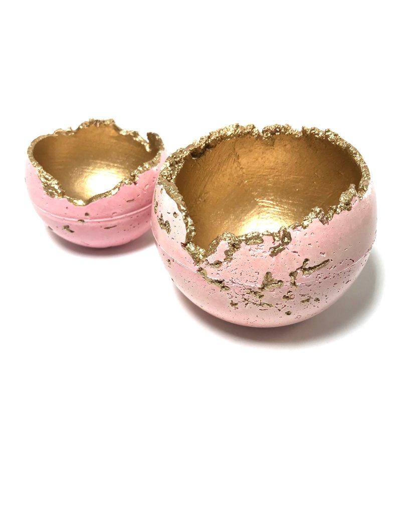 Kaiko Studio Medium Wabi-Sabi Concrete Candleholder/Planter - Pink