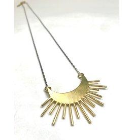 Kaiko Studio Starburst Statement Brass Necklace