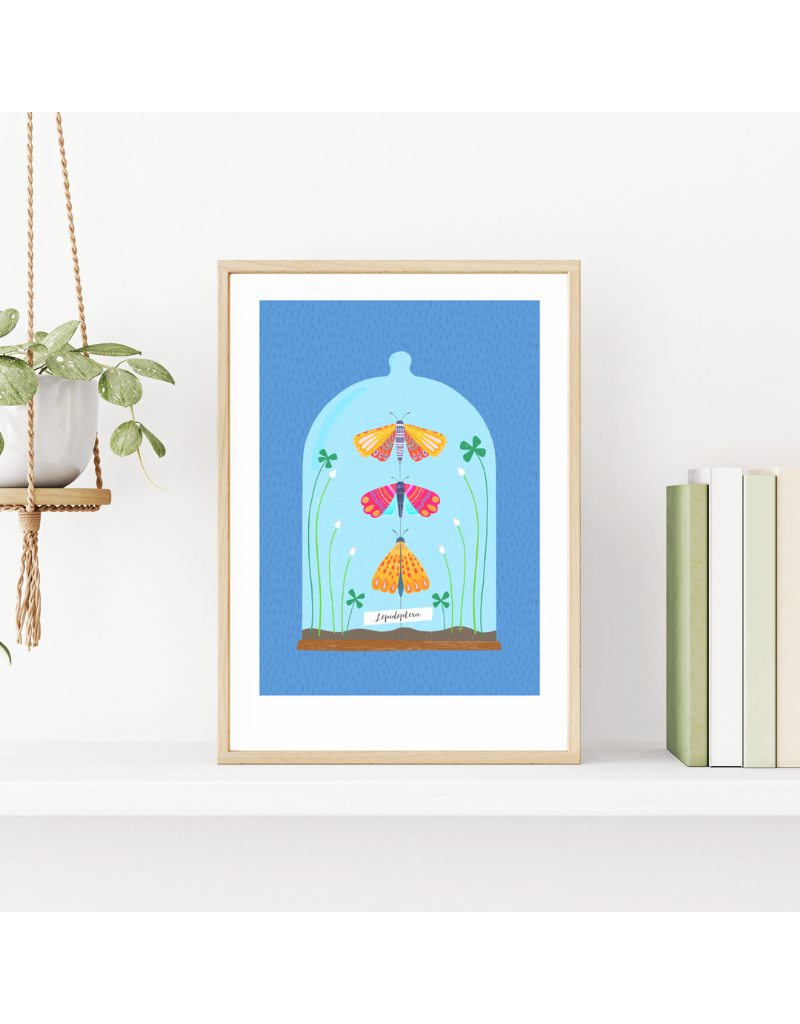 Fleur and Mimi Under the Glass A4 Unframed Print