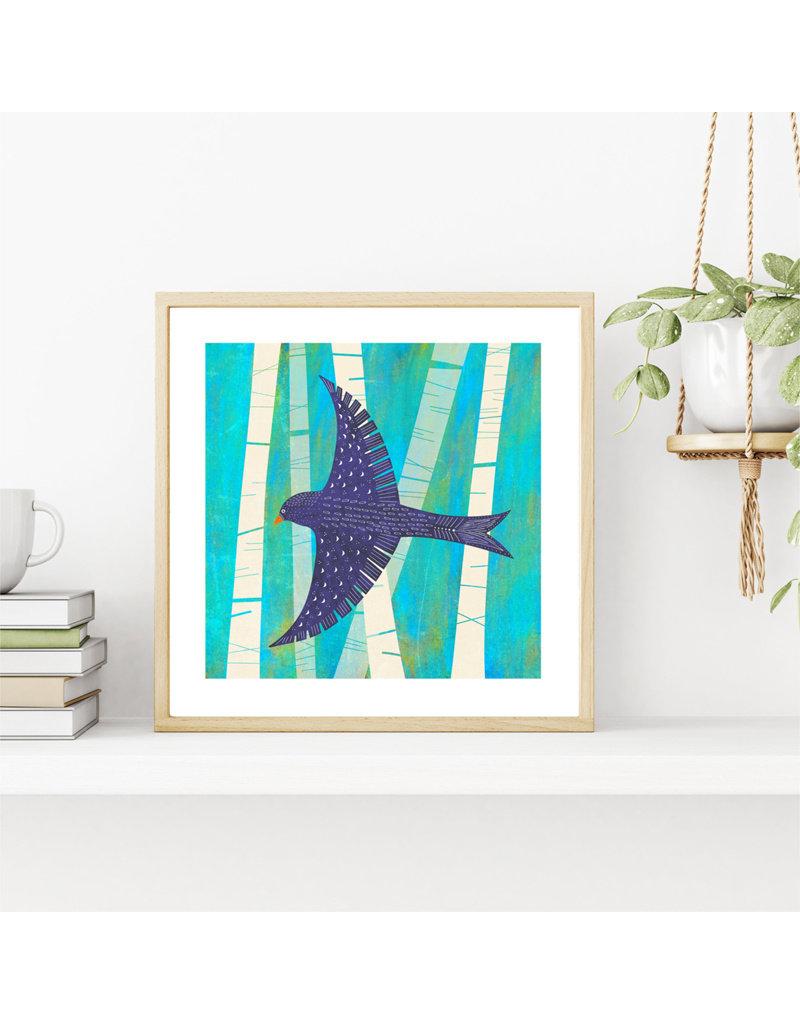 Fleur and Mimi Taking Flight Square Unframed Print