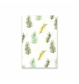 Badly Made Books A5 Blank Notebook- Ferns
