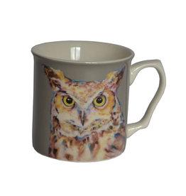 Lorraine Fletcher 'A Late Night' Owl Mug