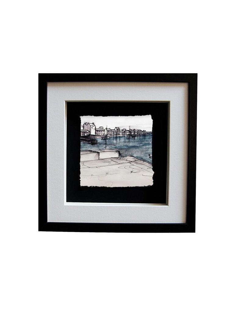 Stephen Farnan 'The Long Walk' Porcelain  Sketch - Black Frame