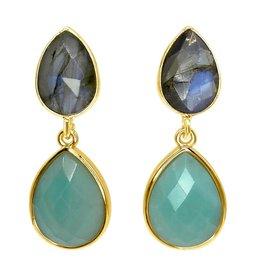 Aria V Lagoon Earrings