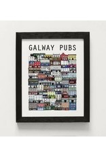 Cowfield Design Galway Pubs Unframed Small