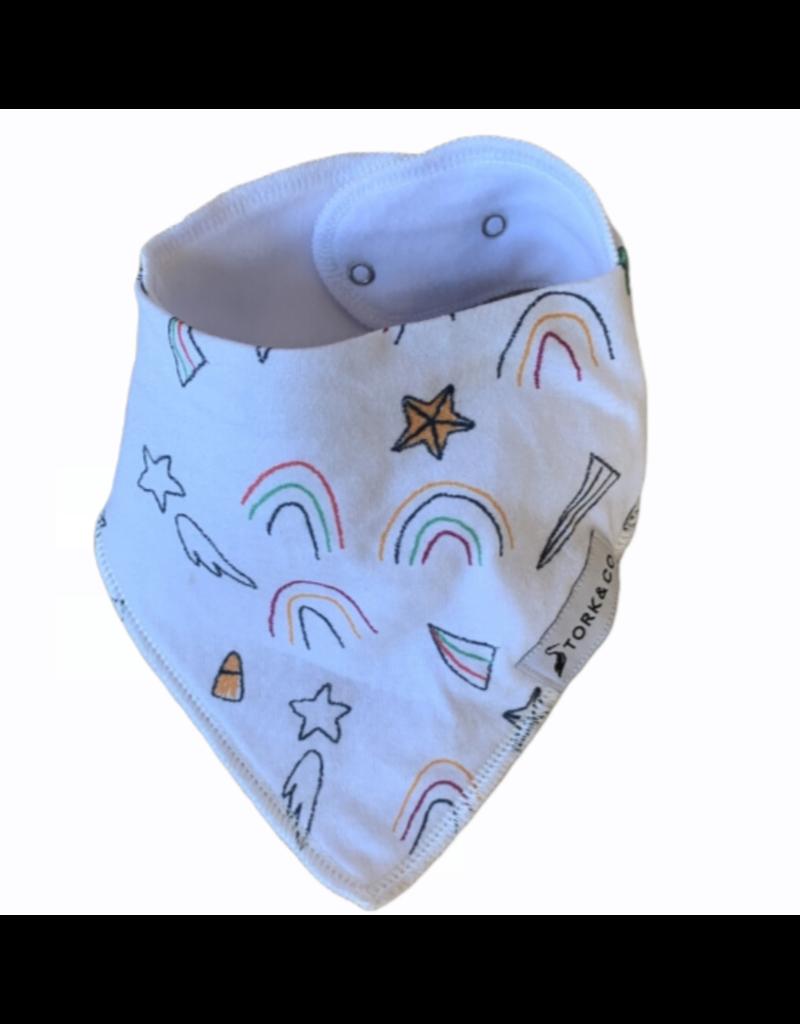 The Stork Box Rainbow and Stars Dribble Bib