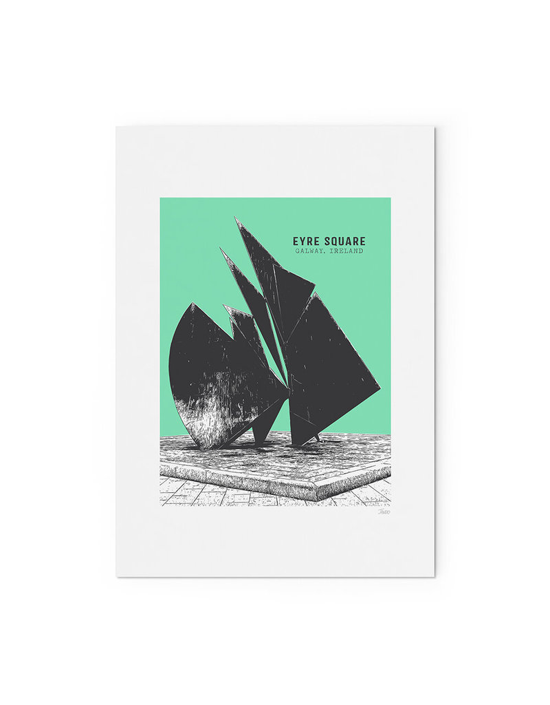 Jando Designs Eyre Square A4 Unframed Print